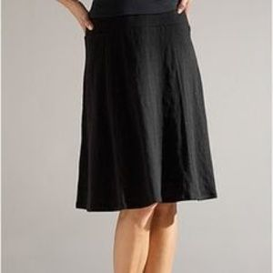 Eileen Fisher Black Knit Stretch A Line Skirt M